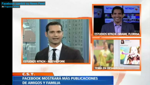 NTN24 – Facebook cambió su News Feed